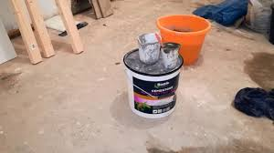 how to fill small holes and cracks in concrete floor youtube
