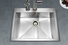 single bowl kitchen sink houzer stainless steel zero small radius kitchen sinks