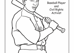 color jackie robinson worksheet education