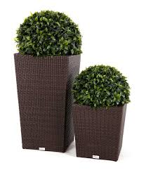 Modern Wicker Patio Furniture by Patio Furniture Sets Modern Wicker Style Tall Flower Pot On