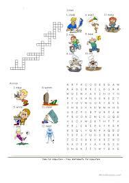 Halloween Crosswords Puzzle Printable by 82 Free Esl Crosswords Worksheets