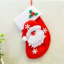 2pcs santa claus gift socks knife and fork bag tree