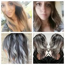 silver brown hair question about dying dark brown hair to silver white grey ombre