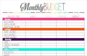 6 printable budget sheets procedure template sample