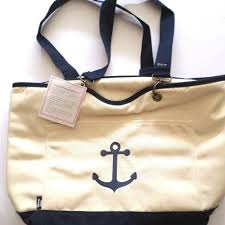 nautical tote find more new thirty one canvas crew thermal tote navy anchor