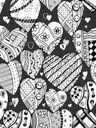 364 colouring hearts love zentangles images
