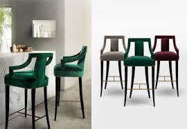 best counter stools best set of modern velvet counter stools