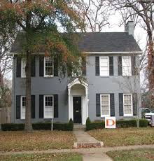 Brick Colonial House Plans Albert And Lillian Brown House 1939 Gray Painted Brick Colonial