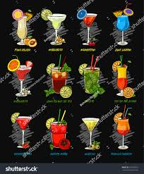 blue martini clip art vector cocktails set isolated martini stock vector 515450527