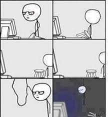 Meme Face Computer - suicide by hanging after reading this post computer reaction