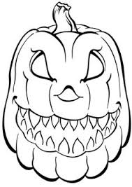 creepy pumpkin coloring halloween haunts