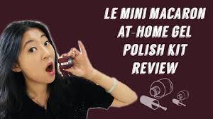 diy at home gel nails le mini macaron gel nail polish kit review