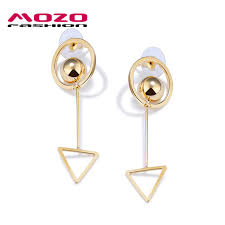 trendy earrings mozo fashion women trendy earrings triangle circle design