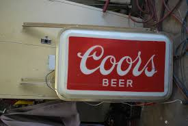 commercial outdoor lighted coors sign collectors weekly