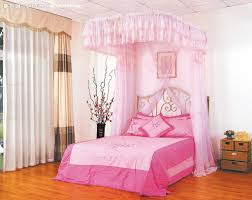 Lovely Home Decor Transform Pink Canopy Bed Lovely Home Decorating Ideas With Pink