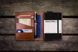 leuchtturm 1917 notebook leather leuchtturm1917 a6 notebook cover brown galen leather