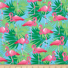 bahama breeze pink flamingo powder blue from fabricdotcom