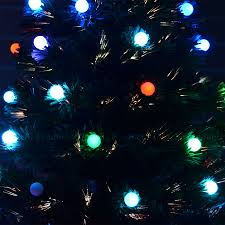 pre lit christmas tree led fibre optic prelit light up xmas home