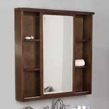 furniture brown varnished wooden medicine cabinets with