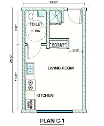 Studio Floor L Garage Plans With Apartment One Level Apartments One Bedroom
