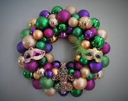 mardi gras bead wreath mardi gras wreath etsy