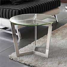 bout de canap verre bout de canapé en verre transparent sur cdc design