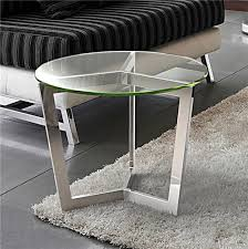 bout de canapé en verre bout de canapé en verre transparent sur cdc design