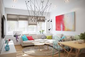 living room in scandinavian style the less the better home