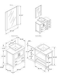 Bathroom Mirror Size Intricate Standard Bathroom Vanity Dimensions Sink Base Cabinet