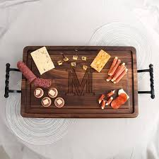 monogrammed serving trays serving trays personalized cutting boards gifts engraved