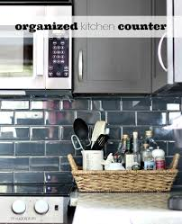 How To Organise A Small Kitchen - organized kitchen counters hi sugarplum