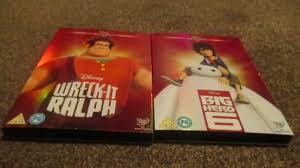 wreck ralph big hero 6 uk dvd unboxing