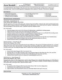 Resumes For Management Positions The Sales Manager Resume Should Have A Great Explanation And