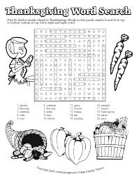 thanksgiving word search answers free printable learning