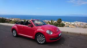 red volkswagen beetle vw beetle cabrio red u2013 tenerife sports cars rent