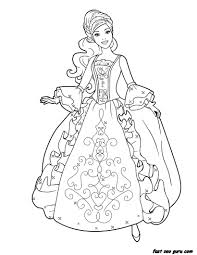 coloring page child princess for girls printable barbie