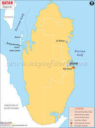 Airports Around Los Angeles Map by Airports In Qatar Qatar Airports Map