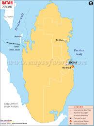 Doha Map Airports In Qatar Qatar Airports Map