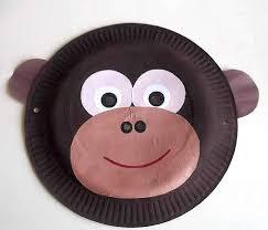 Monkey Paper Plate Craft - paper plate monkey mask class paper plates