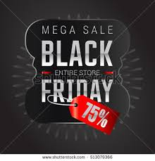 black friday banner black friday sale inscription design template stock vector