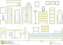 Das Schlafzimmer Clipart Schlafzimmer Möbel Lizenzfreie Stockbilder Bild 12599829