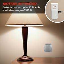 Wireless Light Fixtures by Wireless Motion Sensor With Outlet Receiver Walmart Com