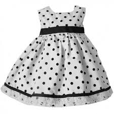 black and white polka dot toddler dress lucky skunks baby