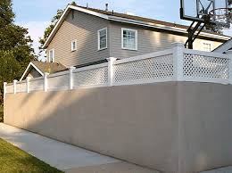 vinyl block wall extentions vinyl solid fencing california