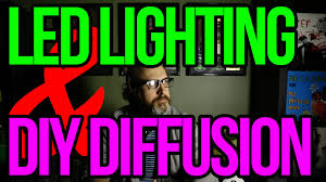 flexible led lighting film the cheap diy hack to diffuse your led lights youtube