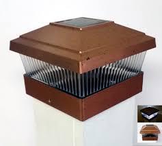 Solar Powered Fence Lights - 6 pack solar powered outdoor garden 5x5 fence post cap led light