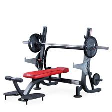 Flat Bench Barbell Press Olympic Flat Bench