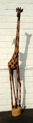 handcarved large 130cm wooden giraffe stylish fair trade