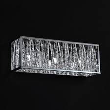 shop z lite 3 light lagoon chrome crystal accent bathroom vanity