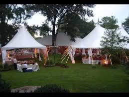 Wedding In Backyard by Planning An Outdoor Wedding In A Tent Youtube